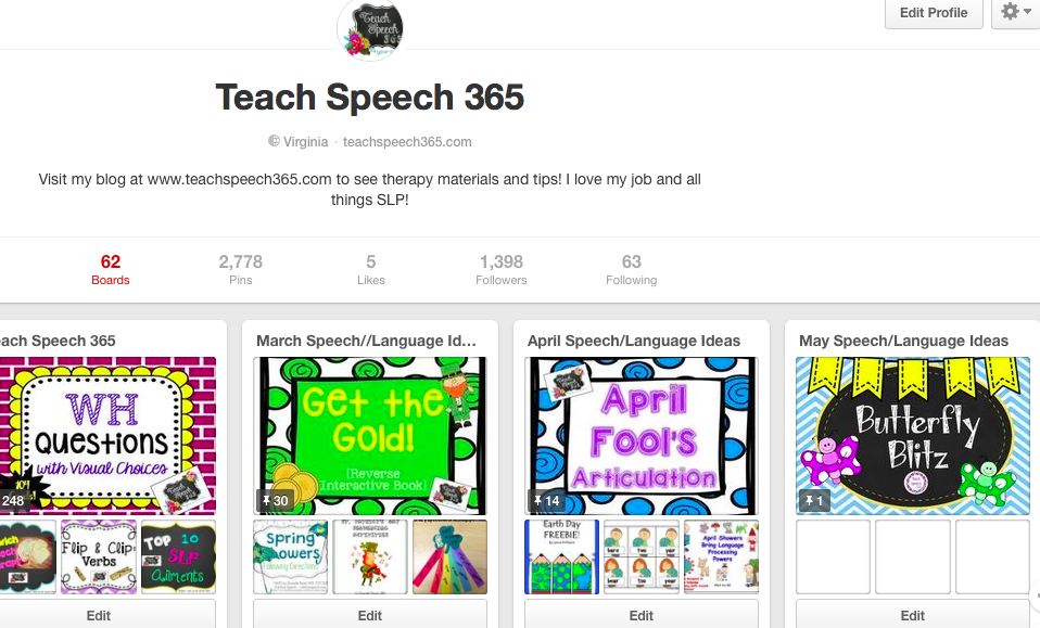 Fun Idea's from Speech Teach 365
